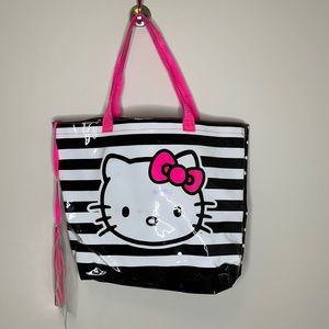 Hello Kitty PVC beach tote bag w attached pouch